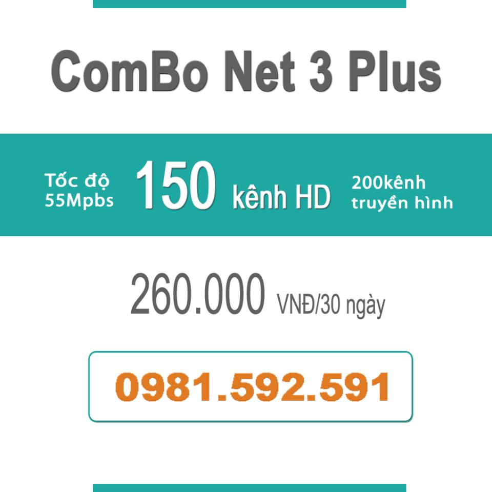 Gói Cước ComBo Flexi 3 (55Mbps + Truyền Hình)