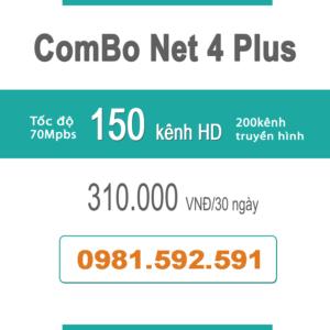 Gói Cước ComBo Flexi 4 (70Mbps + Truyền Hình)