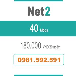 Gói Cước Net 2 – Plus – 40Mbps