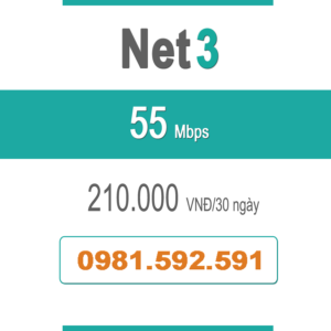 Gói Cước Net 3 – Plus – 55Mbps
