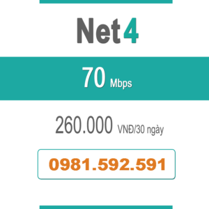 Gói Cước Net 4 – Plus – 70Mbps