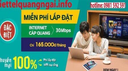 Đăng Ký Lắp Đặt Mạng Wifi Internet VIETTEL Quảng Ngãi
